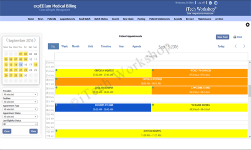 eMB Appointment Scheduler- Day View
