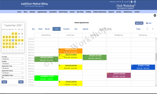 eMB Appointment Scheduler- Unit View
