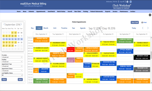 eMB Appointment Scheduler- Week View